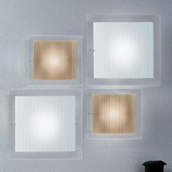 Applique design Minimal D260 a LED in cristallo bianco