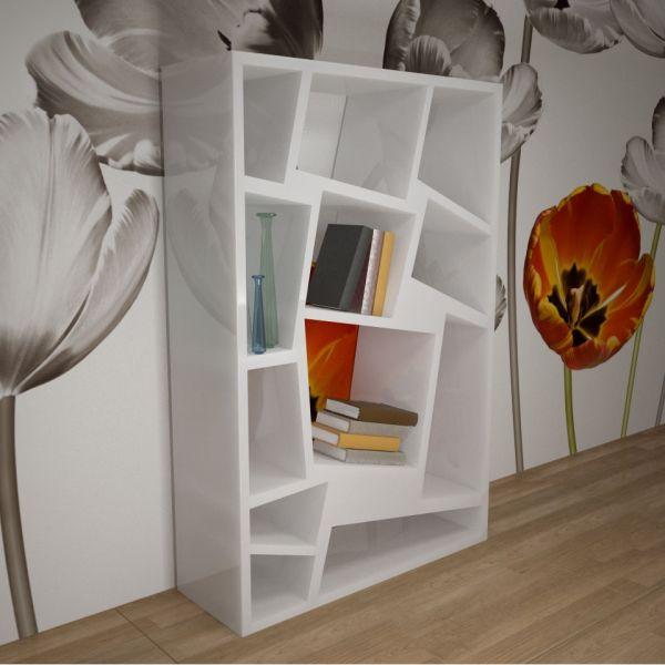 Libreria scaffalatura moderna per arredo camera ufficio studio Ominide