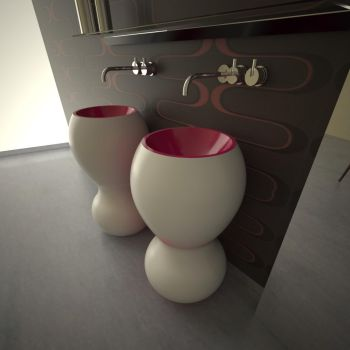 Ariel lavabo bagno da terra design moderno per locali ristoranti