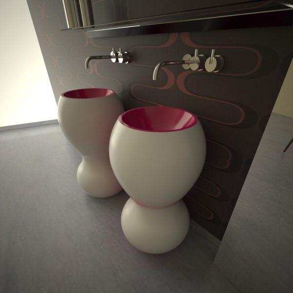 Lavabo bagno design moderno per arredi bagni hotel alberghi locali Billo Billa