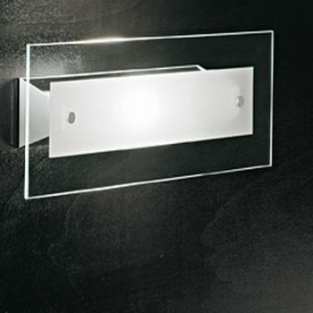 Applique a muro Square D186 a LED in vetro sabbiato