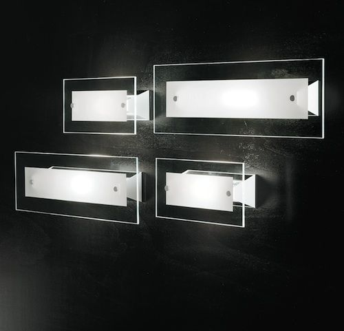 Square d186 applique a muro led design per interni casa - Illuminazione parete design ...