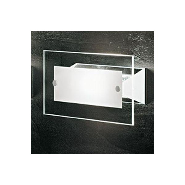 Applique parete square d187 lampade moderne da muro per interno