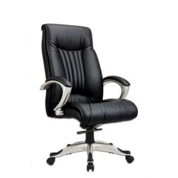 Elegance poltrona imbottita per ufficio direzionale base in alluminio seduta ecopelle