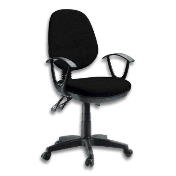 Sedia operativa da ufficio girevole e regolabile Delux