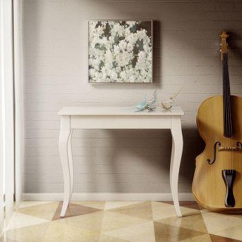 Consolle allungabile Olanda in legno Bianco o Noce fino a 3 metri