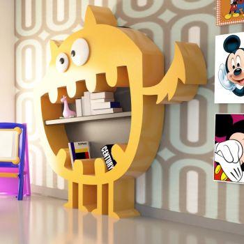 Hardy libreria moderna per ragazzi design futuristico 220 x 220 cm