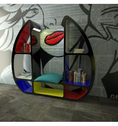 Libreria design moderno in Adamantx