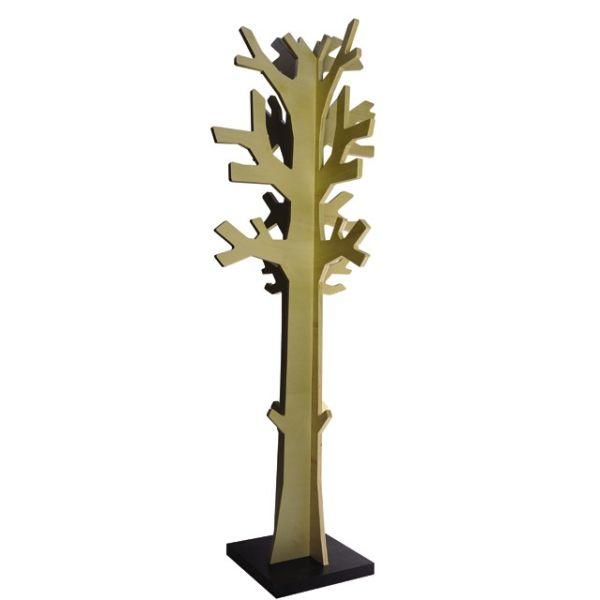 Attaccapanni da terra design moderno in legno albero betulla naturale