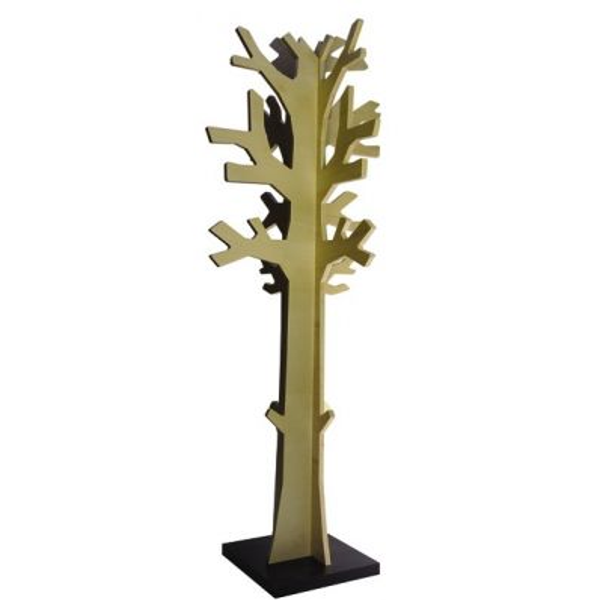 Attaccapanni da terra a forma di albero in legno naturale Albi XL