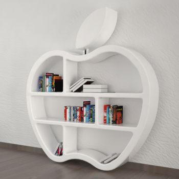 Libreria da parete Gluttony design ultramoderno a forma di mela