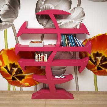Stevenson libreria scaffale moderno in resina per zona giorno 160 x 180 cm