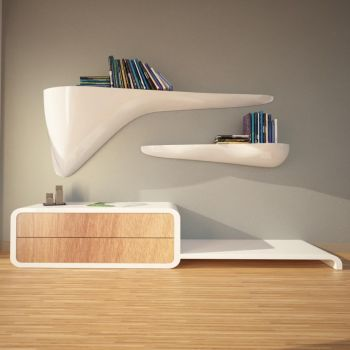 Mensole da parete in metallo vetro o legno per cucina bagno o soggiorno smart arredo design - Mensole da parete design ...