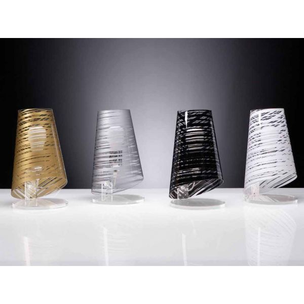 ... Pixi con paralume DESIGN moderno  Lampada da tavolo o comodino  eBay