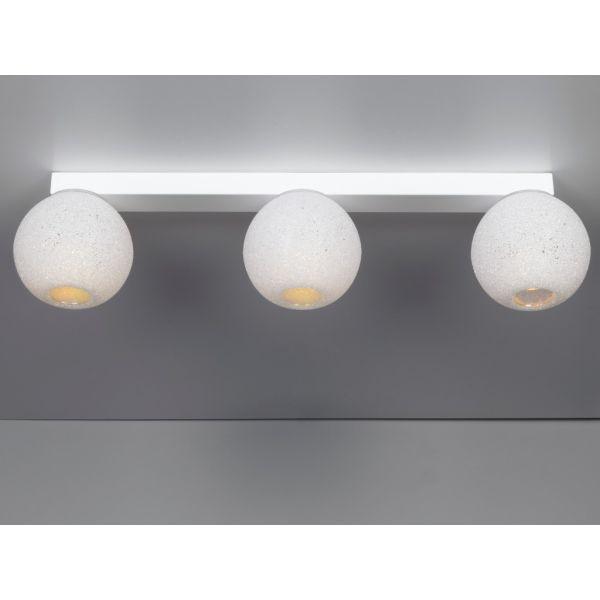 Plafoniera design a tre luci Scintilla