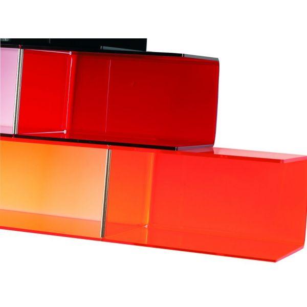Mensole Plexiglass Colorate.Dettagli Su Mensola Muro In Plexiglass Trasparente O Colorata Bimensola Mensole E Ripiani