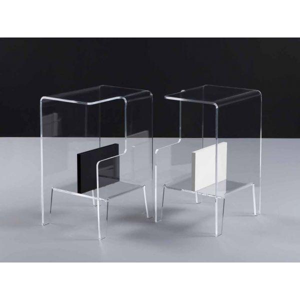 Tavolino lato divano in plexiglass glove design moderno for Tavolino divano design