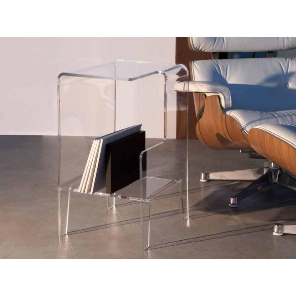 Tavolino lato divano in plexiglass glove design moderno for Tavolino per divano