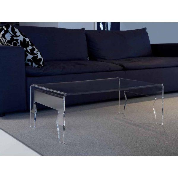 Tavolino da salotto naif in plexiglass trasparente design moderno ...