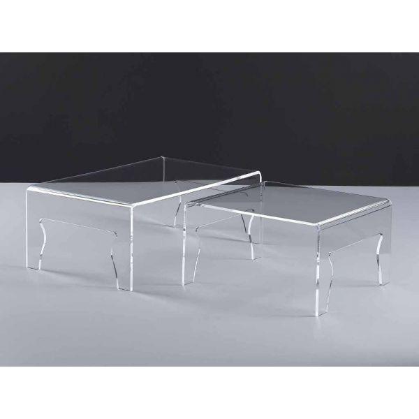 Tavolino da salotto naif in plexiglass trasparente design - Tavolino plexiglass ...