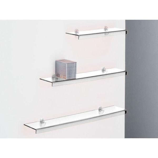 mensola a parete in plexiglass trasparente plana mensole