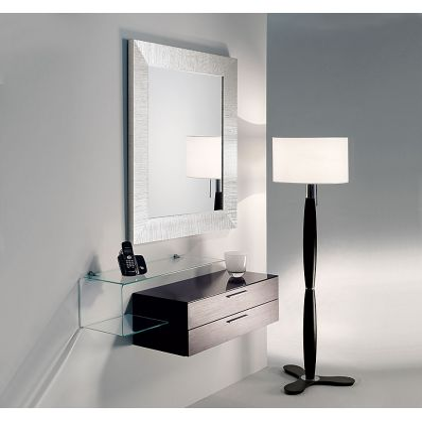 Mobili per ingresso moderni Flexi-12 | Composizione di pensile + specchio + mensola