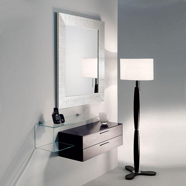 Composizione per ingresso mobili design flexi 12 specchio base mensola vetro ebay - Mobiletti in vetro ...