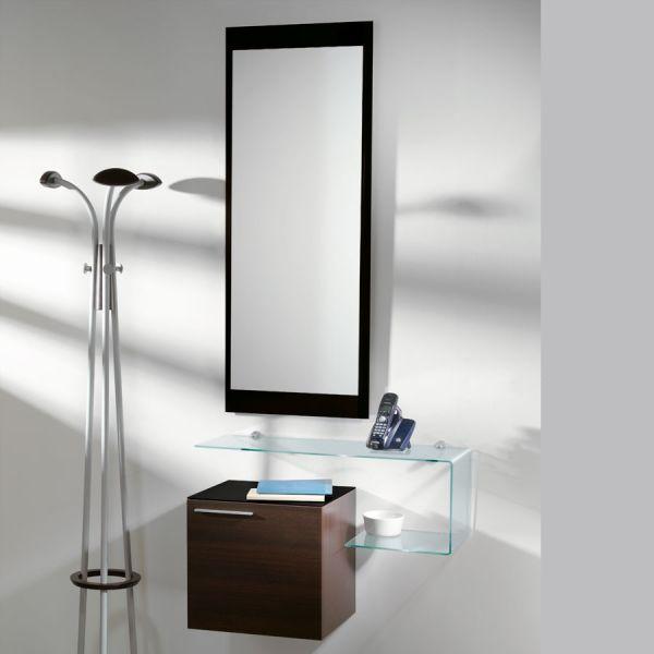 Specchiera rettangolare design moderno Nero Bianco Line