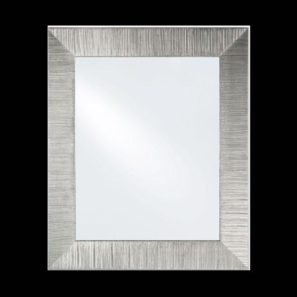 Specchio moderno per ingresso foglia Argento Diva