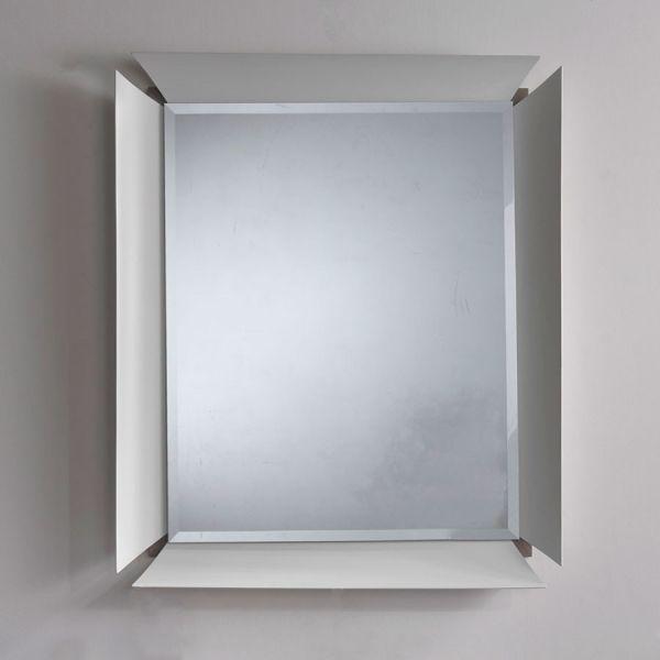 Specchio da parete per camera design glam cornice in alluminio ...