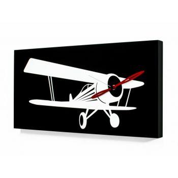 Flyer Waco orologio da parete con aereo stilizzato 48 x 24 cm
