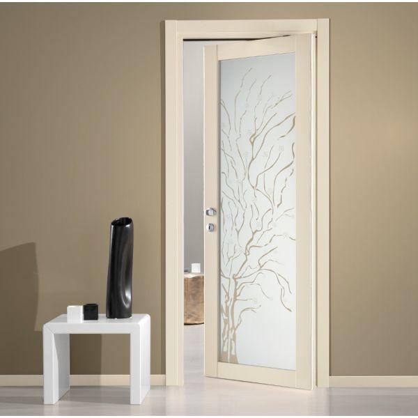 Porta con vetro moderna Prisma