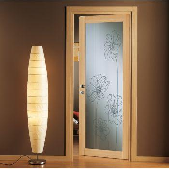 Porta vetrata design Prisma 2