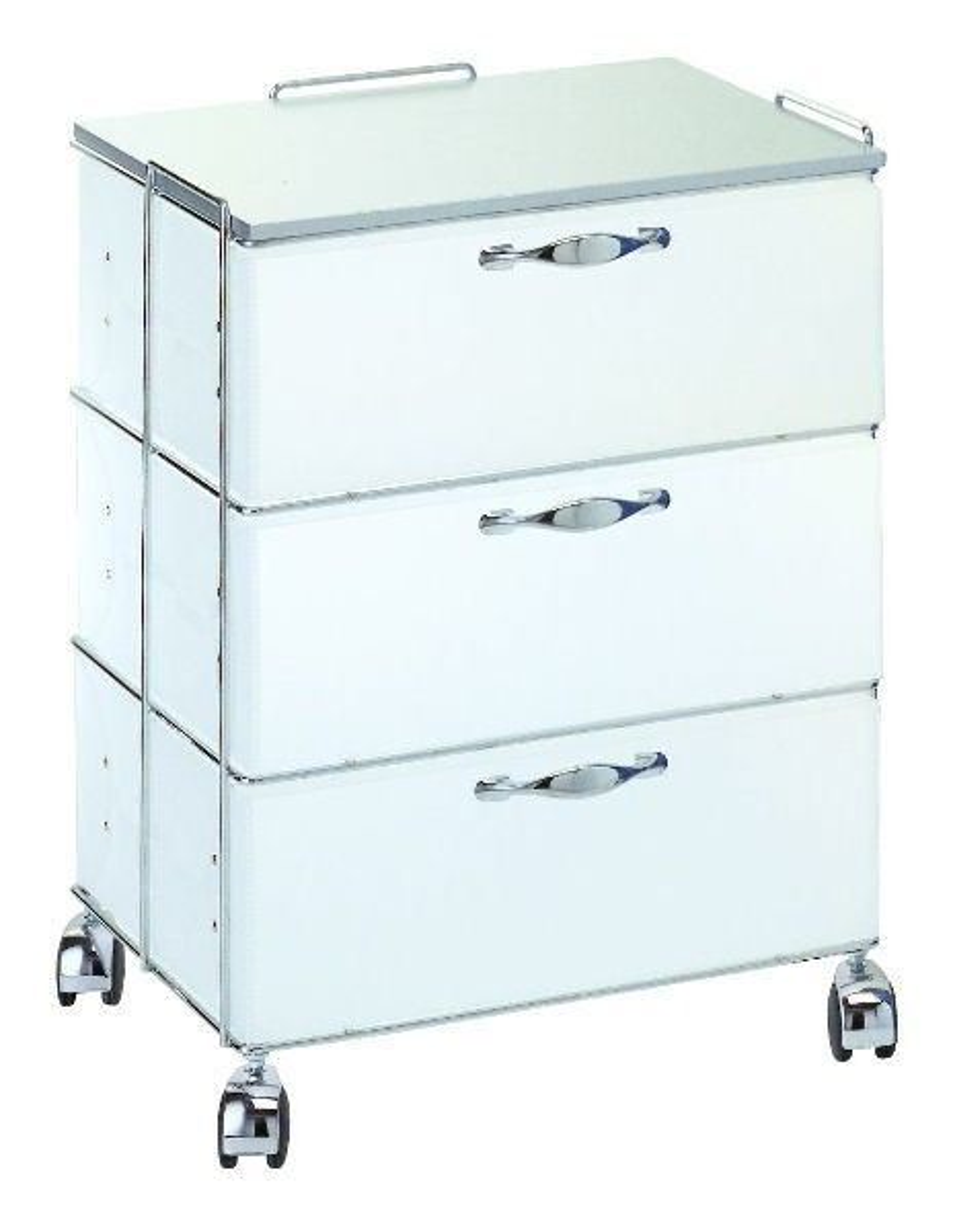 Cassettiera moderna per ufficio su ruote bianco o grigio for Cassettiere design per ufficio