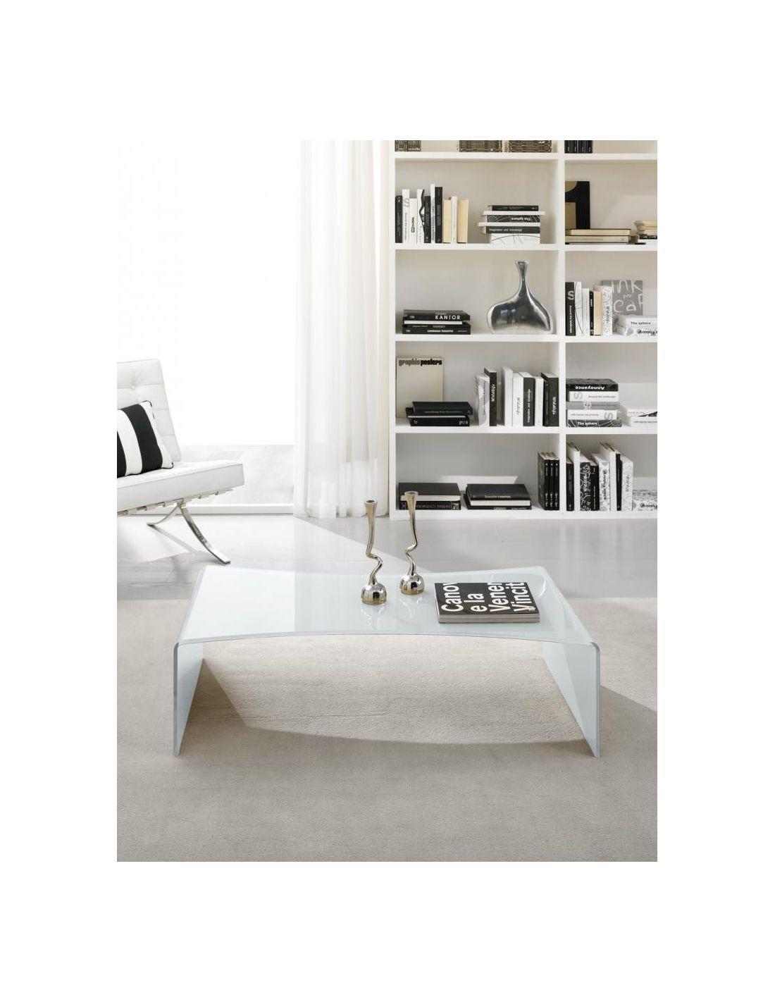 Tavolino vetro curvato bianco pavones idee per il design for Tavolino salotto bianco laccato