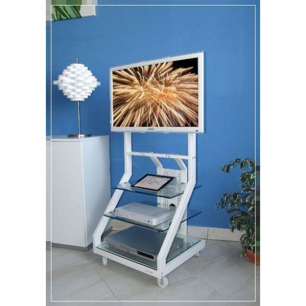 Carrello porta tv design moderno mobile per televisore su - Portabiti con ruote ...