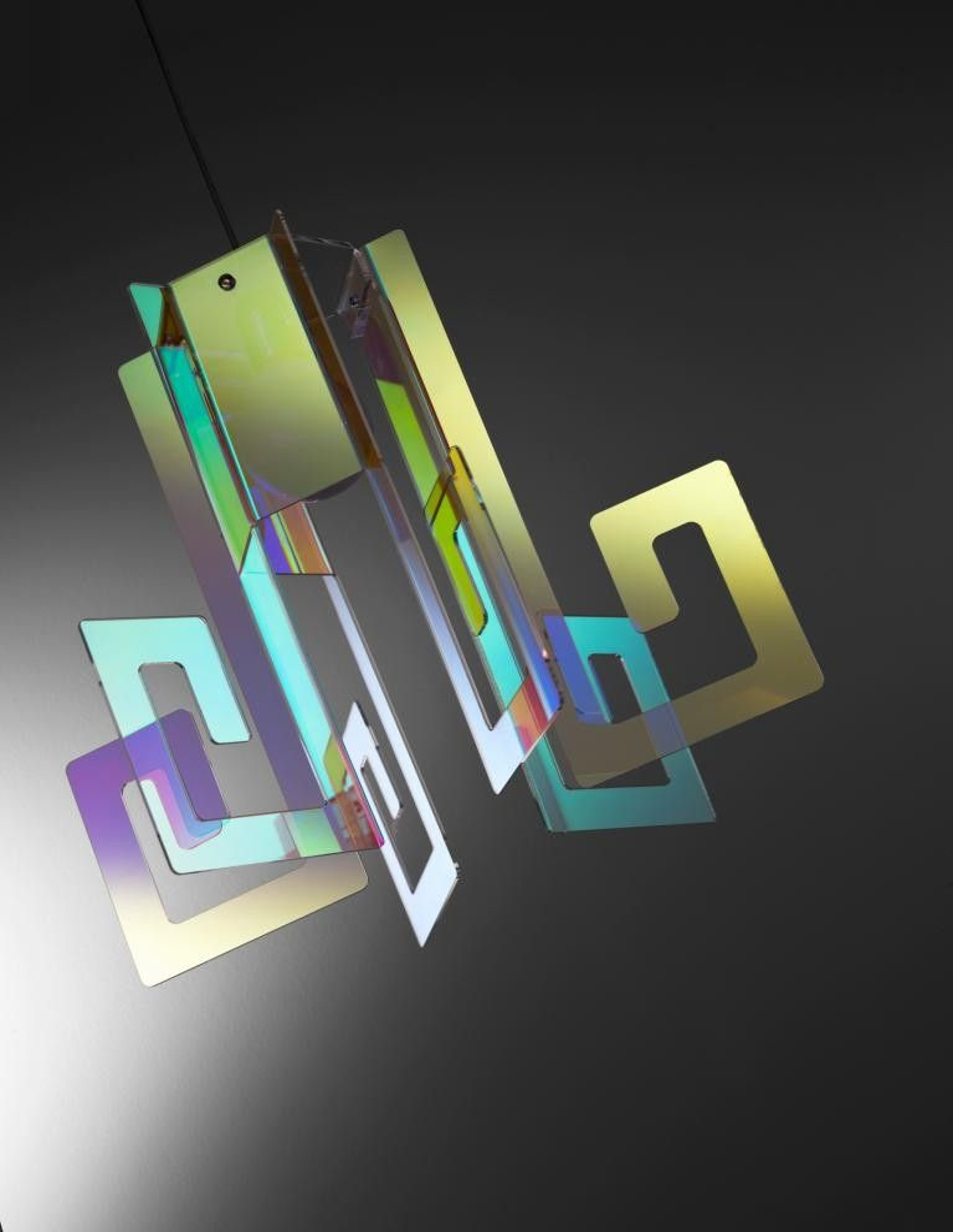 lampadari in plexiglass : Korona lampadario moderno a sospensione in plexiglass