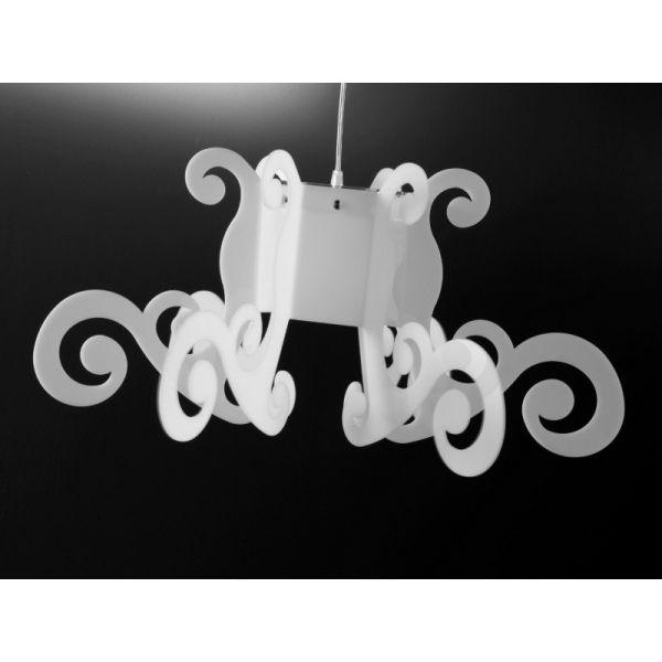 Venus lampadario in plexiglass a sospensione lampadari for Lampadari sospesi