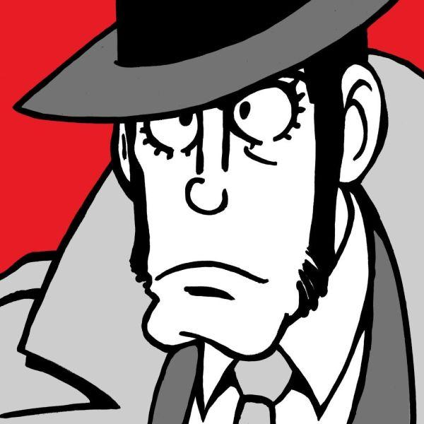 Quadro su tela dipinto a mano Zenigata Zaza | Quadri Lupin