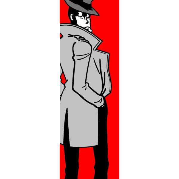 Zenigata quadro in verticale design dipinto su tela 30x90 o 50x150 cm