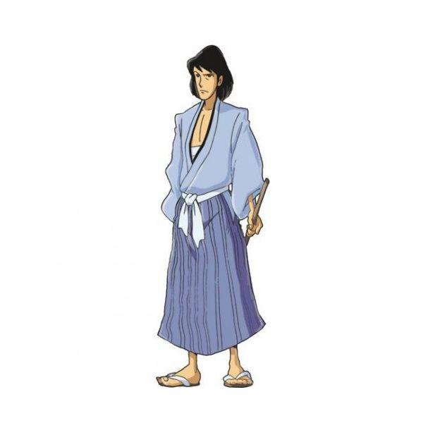 Sagoma Goemon stampata su pannello MDF serie Lupin