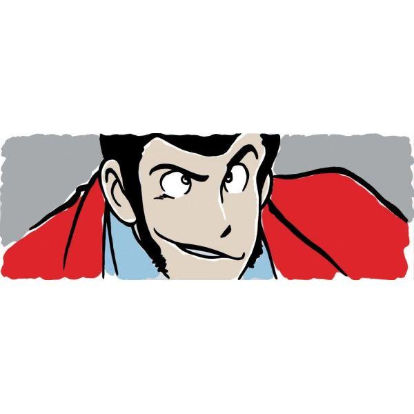 Quadro orizzontale Lupin dipinto su tela 90x30 o 150x50 cm