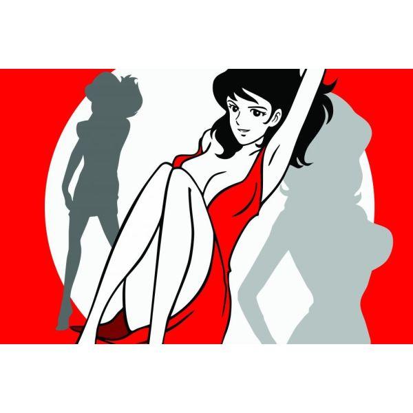 Fujiko sexy quadro su tela per salotto dipinto a mano