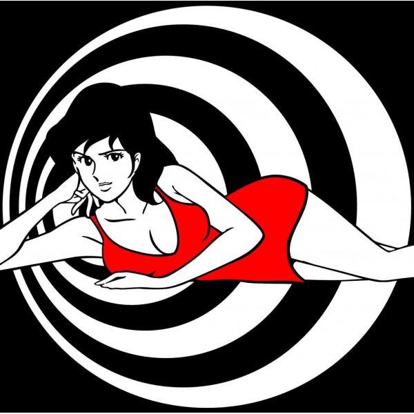 Fujiko 007 quadro da salotto dipinto a mano su tela classica