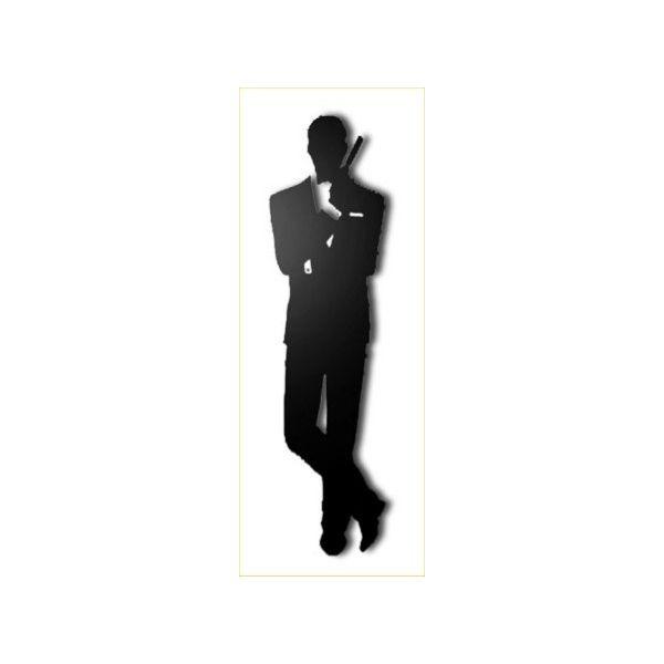 Quadro sagomato James Bond su pannello legno MDF