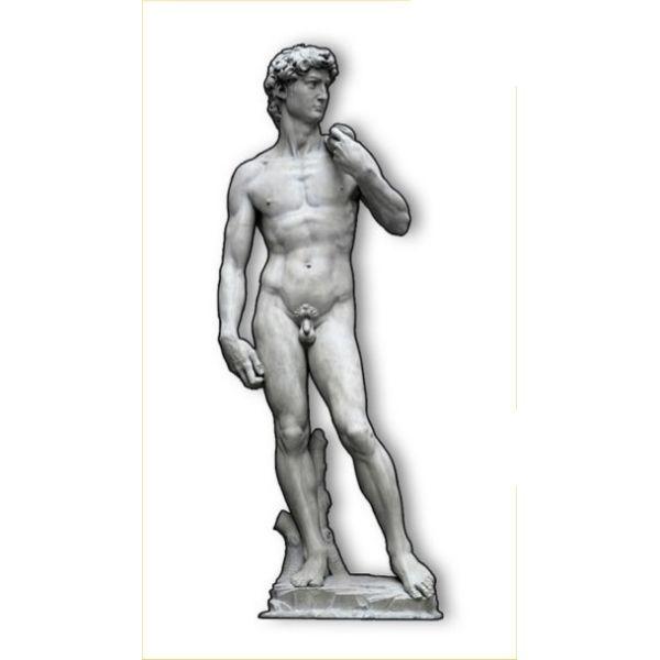 Sagoma David di Michelangelo su pannello legno MDF 180 cm