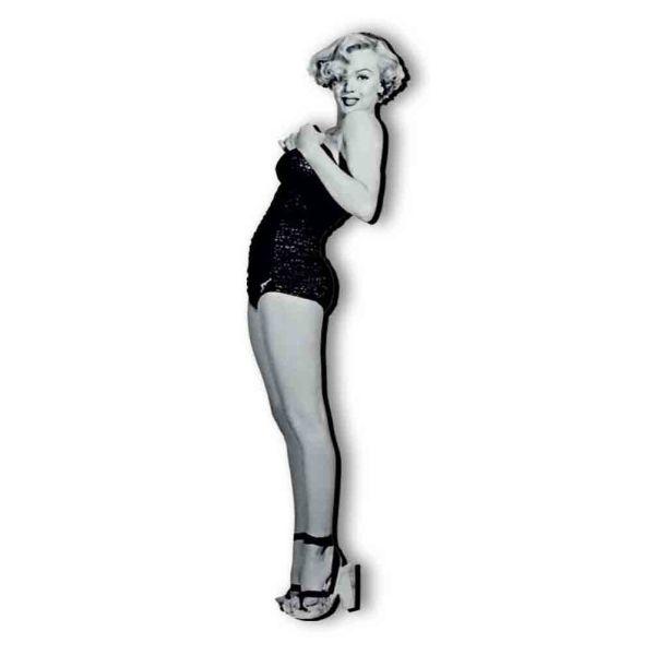 Marilyn Monroe sagoma in legno stampato e ritoccato a mano