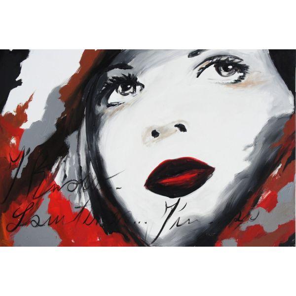 Quadro tela volto Donna 1 per arredo soggiorno 120 x 80 cm