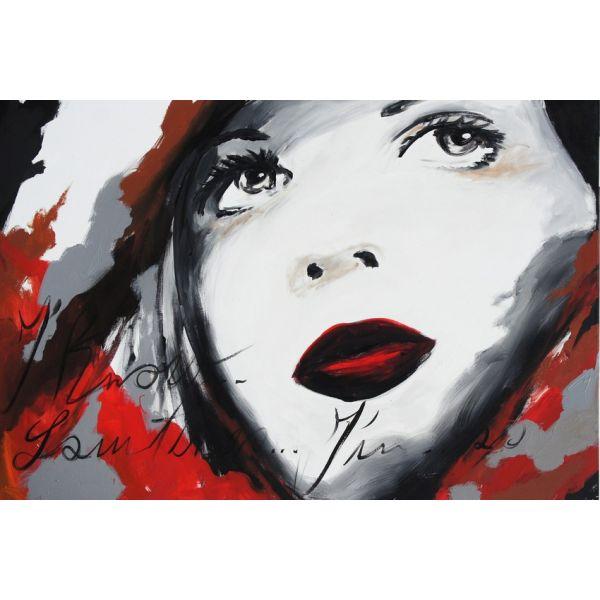 Quadro tela volto Donna 1 | QUADRI moderni VISI di DONNE dipinti a ...