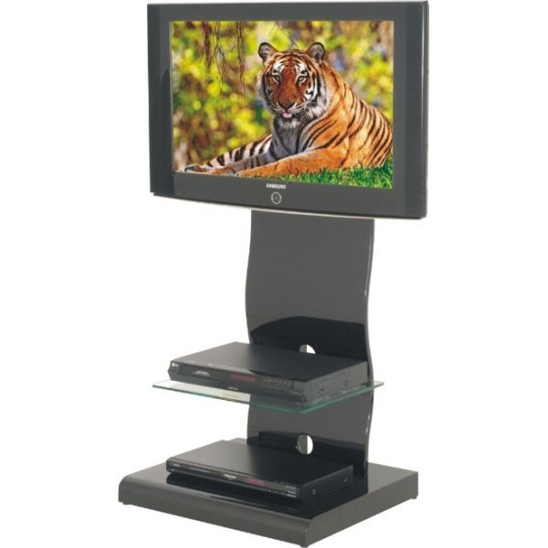 Mobile porta tv nero moderno regolabile modello.818 per tv da 27 a ...